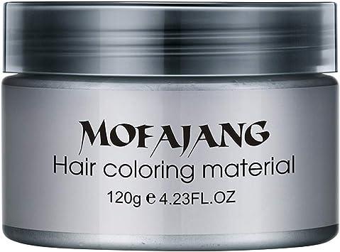 Healifty - Tinte temporal de cera para el cabello, color gris ...