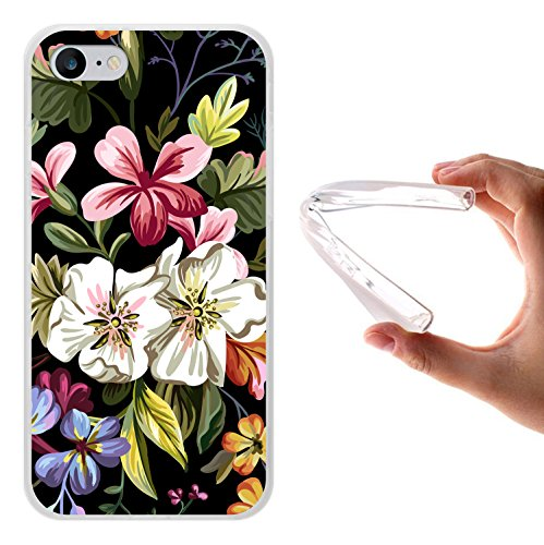 iPhone 8 Hülle, WoowCase Handyhülle Silikon für [ iPhone 8 ] Blumenstrauß Handytasche Handy Cover Case Schutzhülle Flexible TPU - Transparent