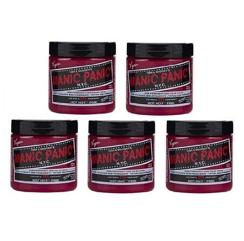 【5個セット】MANIC PANIC マニックパニック Hot Hot Pink ホットホットピンク 118ml B00D77HFTC