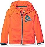 Reebok Big Girls' Active Hooded Zip Up Jacket, Coral, XL (16)