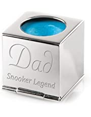 Personalised Silver Snooker / Pool Chalk Holder - Complete With Luxury Velvet Pouch and Box - Engraved - Enter Your Custom Text