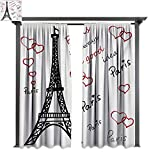 covered porch ideas bybyhome Home Patio Outdoor Curtain Eiffel Tower Eiffel Paris is Always a Good Idea Tourism Locations Love Valentines W96 xL84 Suitable for Front Porch,pergola,Cabana,Covered Patio