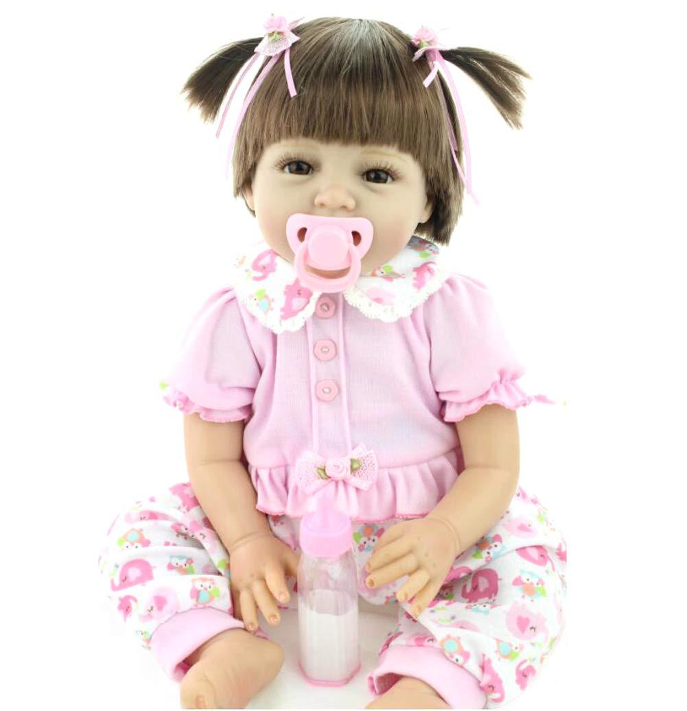 Homesave Reborn Baby Doll Soft Simulation Vinilo De Silicona 22 Pulgadas 48-55 Cm Boca Magnética para El Día De Acción De Gracias Día De Navidad