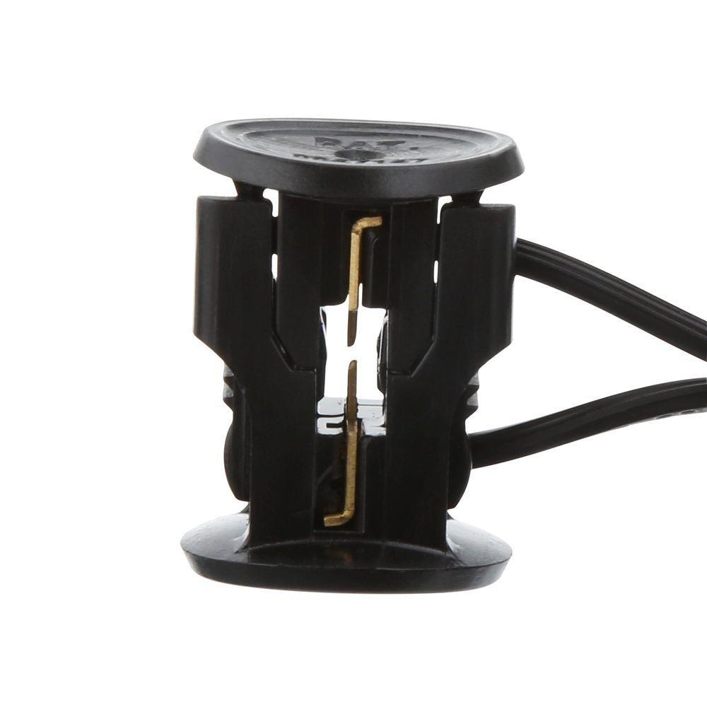 Hampton Bay Low Voltage 7-Watt Black Halogen Half Brick Deck Light 12 Pack