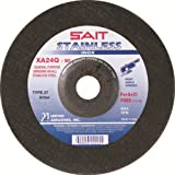 United Abrasives-SAIT 24210 Type 27 4-1/2-Inch by 1/4-Inch by 7/8-Inch Stainless XA24Q Depressed Center Wheel, 25-Pack