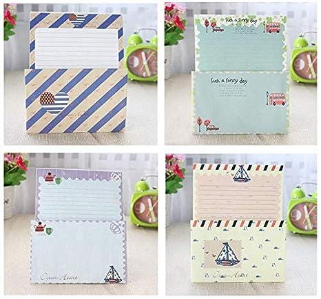Briefpapier 8 Farben 32 Sweet Floral Briefpapier mit 16 Umschl/ägen