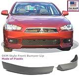 body kit mitsubishi lancer - Compatible with 08 09 10 11 12 13 14 15 Mitsubishi Lancer Replacement for Front Bumper Air Dam Lip Spoiler Body Kit Plastic Primer 2008 2009 2010 2011 2012 2013 2014 2015 Brand]: EAX