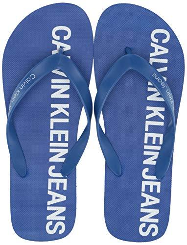 CK Jeans Men's ERROL Sandal, Nautical Blue Rubber, 9  M US (Calvin Men Sandal Shoes Klein)