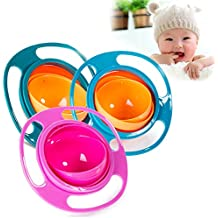 JD Million shop Baby Feeding Toy Bowl Dishes Kids Boy Girl Spill Proof Universal Rotate Technology Funny Gift Baby Accesories