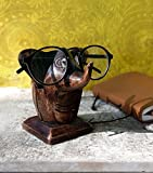 Wooden Baby Elephant Eyeglass Spectacle Holder Handmade Stand For Office Desk Home Decor