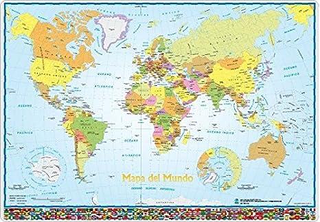 Vade escolar Mapa del mundo: Amazon.es: Hogar