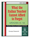 img - for What The Italian Teacher Cannot Afford To Forget (Italian Edition) book / textbook / text book