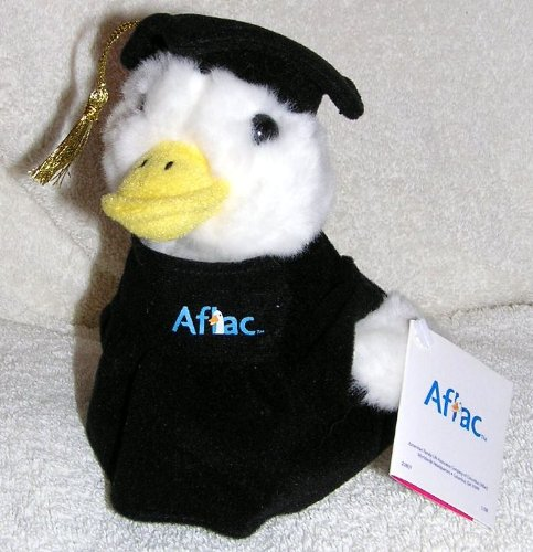 Talking 6  Plush Graduation Aflac Duck In Cap And Gown