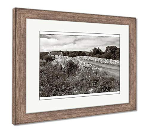 Ashley Framed Prints The Quiet Man Bridge, Wall Art Home Decoration, Color, 26x30 (Frame Size), Rustic Barn Wood Frame, AG6441067