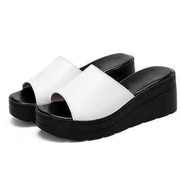 LVZAIXI Schuhe Frauen Hausschuhe Mode Damenschuhe Frauen Sommer dicker Slipper Hausschuhe hochhackigen Mode Hausschuhe...