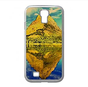 Glacier National Park Panorama Watercolor style Cover Samsung Galaxy S4 I9500 Case (Montana Watercolor style Cover Samsung Galaxy S4 I9500 Case)
