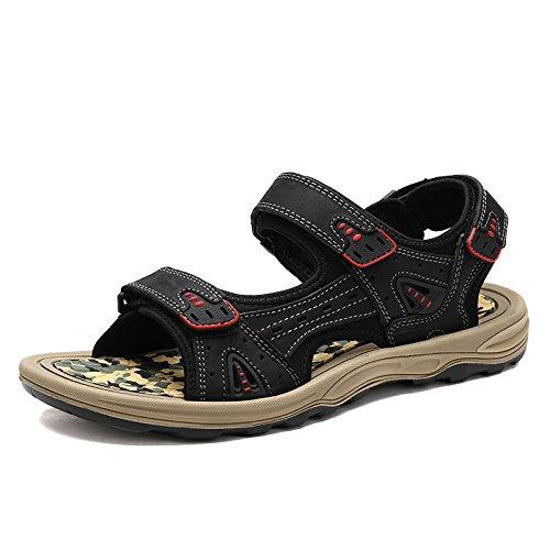 Gli Uomini Sono Dei Sandali, In Vera Pelle Le Scarpe, Scarpe Di Cuoio, Calzature Da Spiaggia,La Carta Nera,Eu42