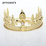 Generic European and American foreign custom crown tiara tiara stage performance perform props crown tiara tiara headdress male models male Glico Hair Accessories