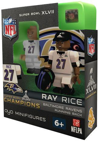 NFL Baltimore Ravens Ray Rice Super Bowl Champion OYO Figure