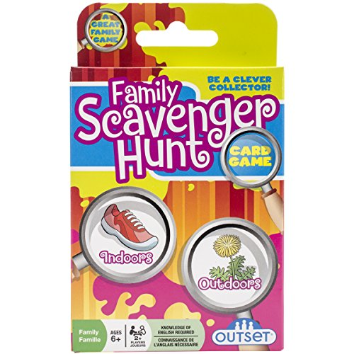 Outset Media Family Scavenger Hunt Card Game, Nature Themed Card, Dice And Camp Board Games, Camp Games Kids And Adults Love
