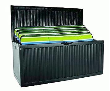 Relativ Auflagenbox mit Rollen 350L Gartenbox Gartentruhe Auflagen CS06