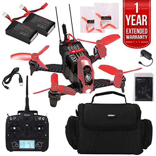 Walkera Rodeo 110 Racing Drone with Devo 7 Pro Racer Pack Plus Case, Extra Battery, And One Year Warranty Extension by Beach Camera