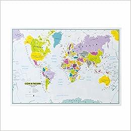 Childrens world map glow in the darkbestel per set 5425013069939 childrens world map glow in the darkbestel per set 5425013069939 amazon books publicscrutiny Choice Image