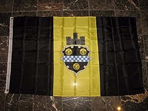 3x 5Ciudad de Pittsburgh Super poliéster bandera de Nylon 3'x5' casa Banner 90cm x 150cm ojales doble cosido Premium calidad interior al aire libre poste Pennant (nuevo)