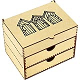 Azeeda 'Beach Huts' Vanity Case / Makeup Box (VC00002255)