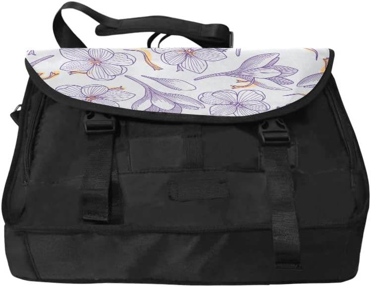 Teen Crossbody Bags A Blooming Saffron Multi-Functional Laptop Carry Bag Fit for 15 Inch Computer Notebook MacBook