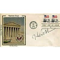 John Paul Stevens US Supreme Court Justice Northwestern Law Signed Autograph FDC - College Cut Signatures photo