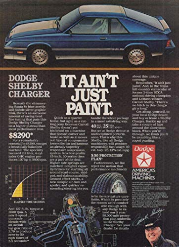 It ain't just paint Dodge Shelby Charger ad 1983