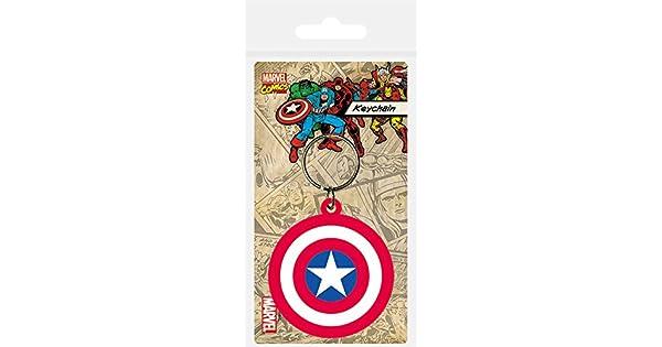 Amazon.com: Capitán América – Marvel Llavero/Llavero de hule ...