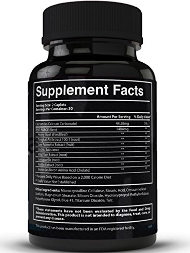 TEST:FORCE - 100% Natural Maximum Strength & Potent Testosterone Booster For Men - Supercharges Vitality, Muscle Mass & Powerful Energy Booster - Full 30-Day Cycle by Zeo Nutrition by Zeo Nutrition (Image #1)