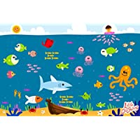Underwater Design Disposable Placemats Table Topper 60 Mats for Children Kids...