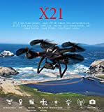 Bayang X21 6 RC FPV Quadcopter Drone with 1080P HD Camera, 3D PTZ RC Helicopter Double GPS, Follow Me, Fixed Height & Lost Contact Return (Black)