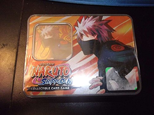120 Assorted Naruto Collectible Cards with Rares Foils Includes Golden Groundhog Deck Box! 3 Super Rares in Every Bundle Promos Comes in Empty Naruto Tin for Storage