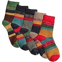 Pack de 5Womens de grosor Knit (Casual Crew Calcetines de invierno de lana cálido cabe Zapato Tamaño 5–10)