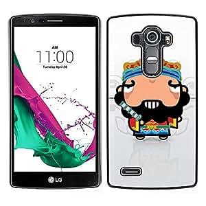 LECELL--Funda protectora / Cubierta / Piel For LG G4 -- Individuo divertido fresco impresionante --