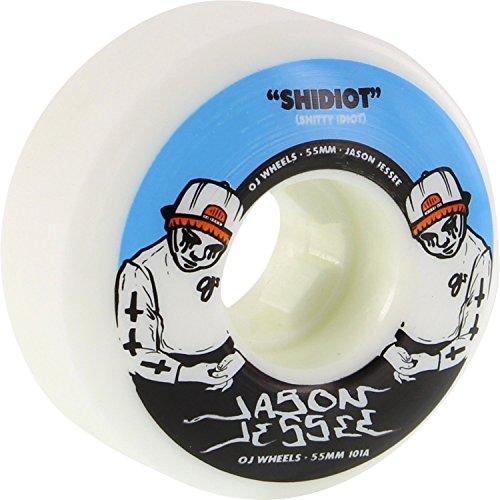 気分が悪い厳しい大型トラックOJ Wheels Jessee shidiot 55 mm 101 aホワイトSkateboard Wheels (Set of 4 )