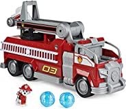 PAW Patrol, Marshall's Transforming Movie City Fire Truck with Extending Ladder, Lights, Sounds and Action Fig