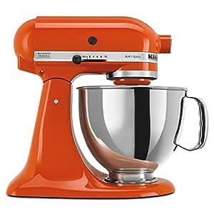 KitchenAid KSM150PSPN Artisan 5-Quart Stand Mixer, Persimmon