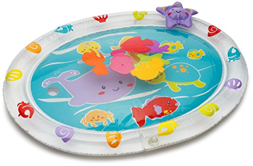 Playkidz Super Durable Inflatable Earlyears Baby Water Play Mat Fill 'N Fun Play Water - Filled Playmat Water