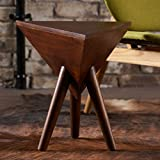 Cheap Lavro Mango Wood Triangle End Table by Christopher Knight Home