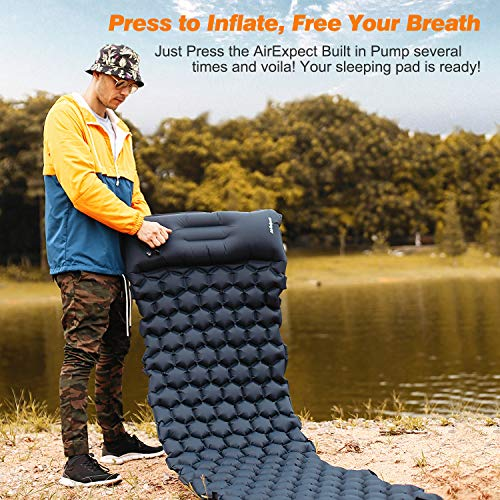 Inflatable sleeping pad perfect for backpacking