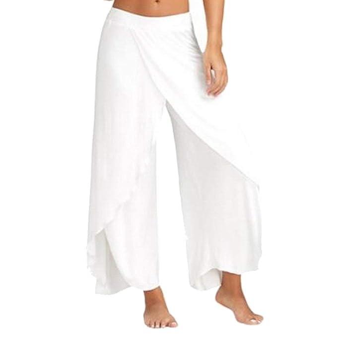 Falda Pantalon Mujer Elegantes Pantalones Verano Chiffon Pantalones Palazzo Pantalones Yoga Mujer Color Sólido Abiertas Anchos Fashion Basicas ...
