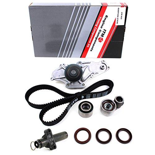 New ITM286HTWP-1 (197 Teeth / 26mm Width) Timing Belt Kit, Hydraulic Tensioner (Auto Adjuster), Oil Seals, & Water Pump Set -