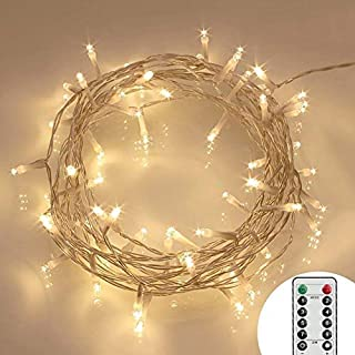 remote and timer 164ft 40 led outdoor fairy lights 8 modes battery