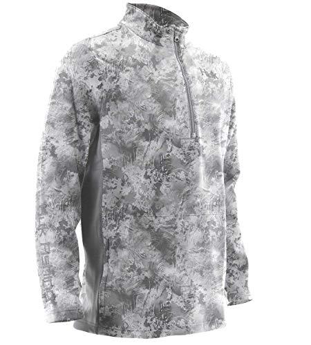 Huk Men's Tidewater Camo Subphantis 1/4 Zip Fleece Long Sleeve Shirt, Subphantis SubZero, X-Large