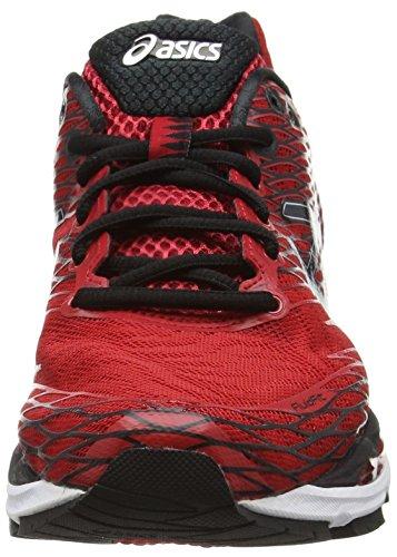 Asics Gel Nimbus 18 - Zapatillas de Running, Unisex Rojo (Racing Red/Black/Silver 2390)
